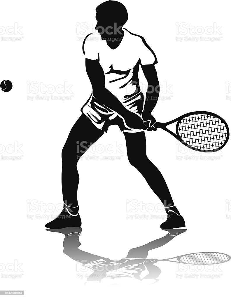 Tennis player royalty-free stock vector art