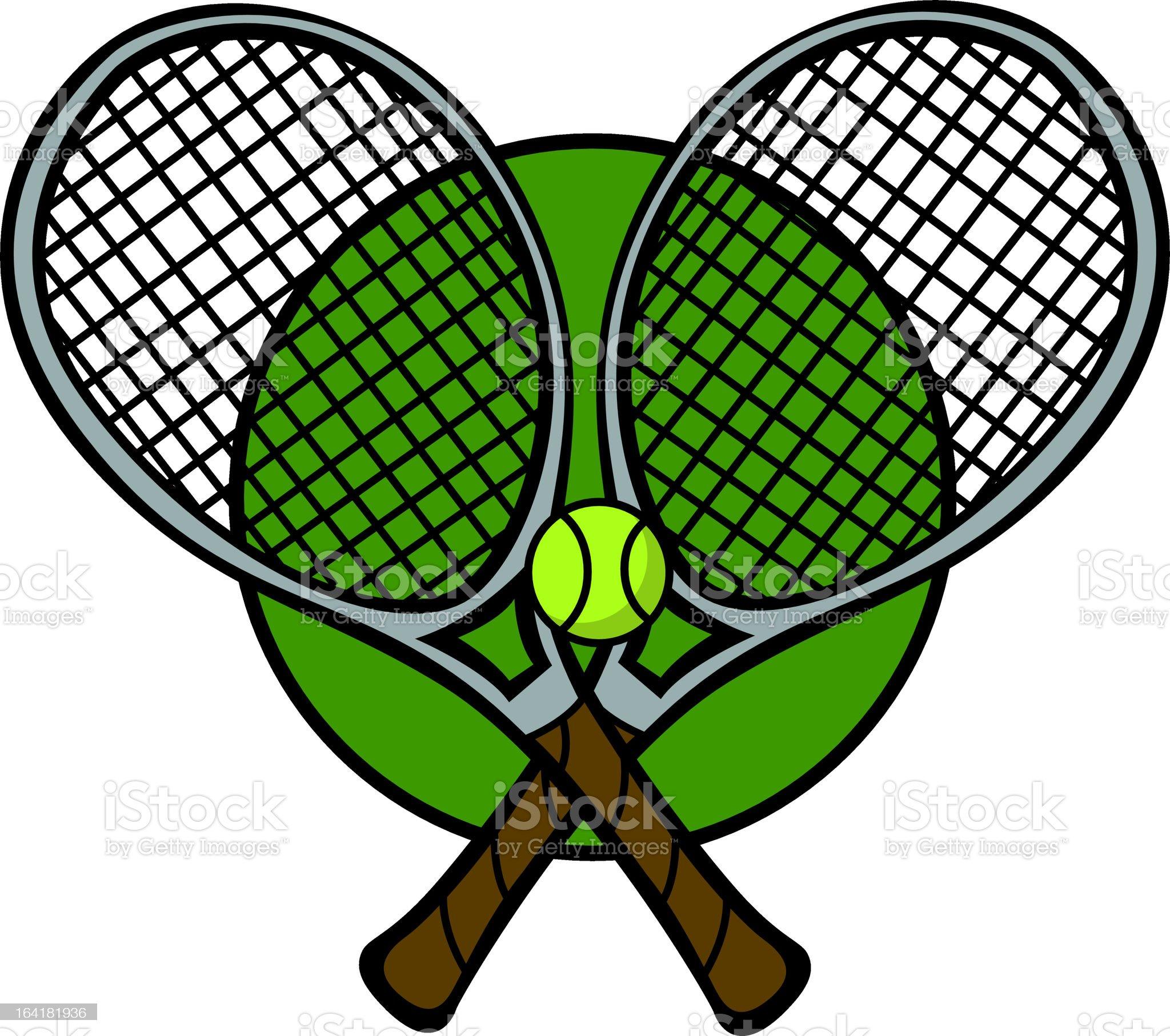 tennis rackets royalty-free stock vector art