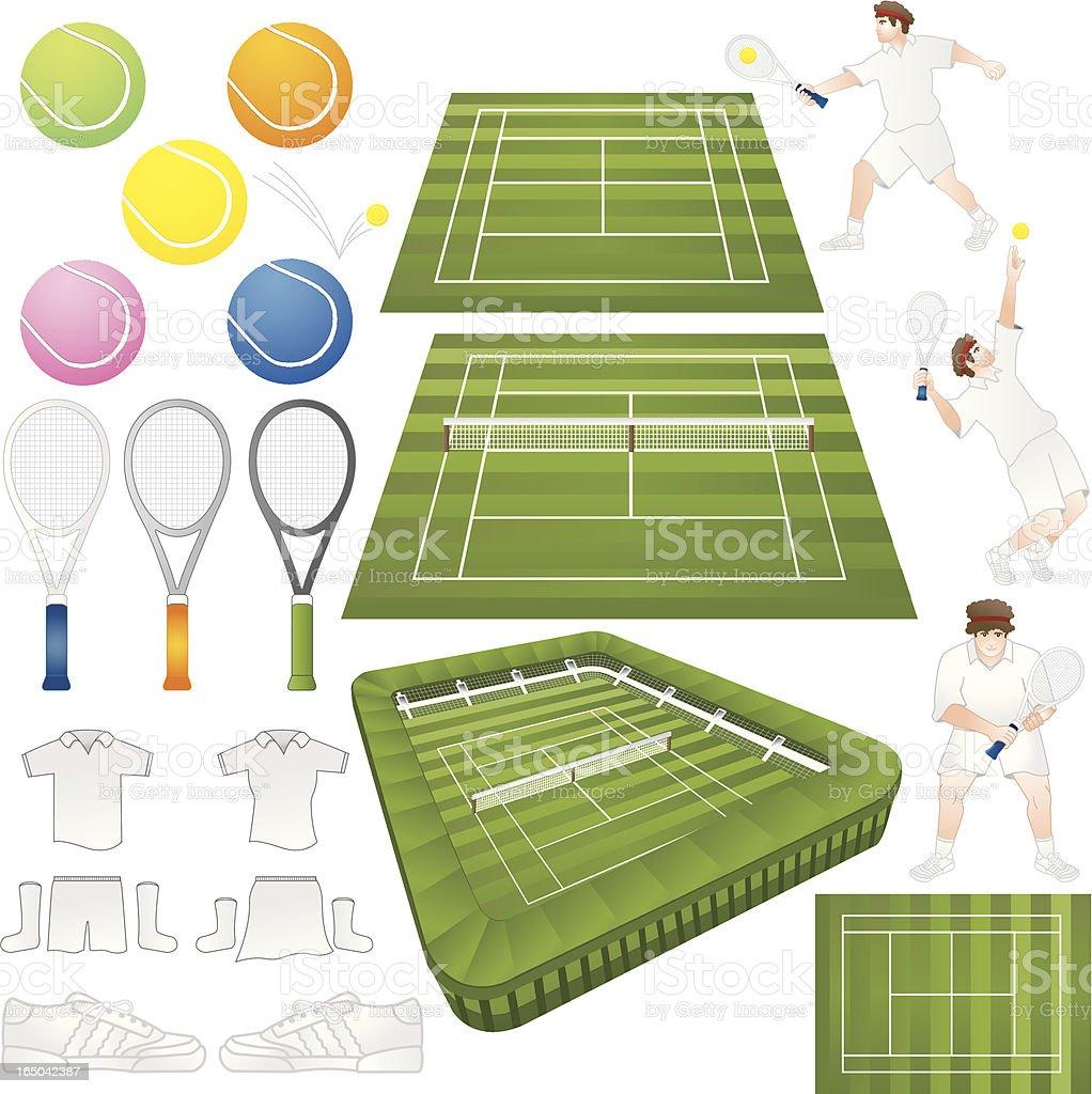 Tennis vector elements vector art illustration