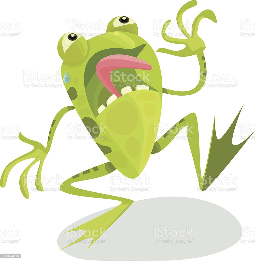 Terrified Frog royalty-free stock vector art