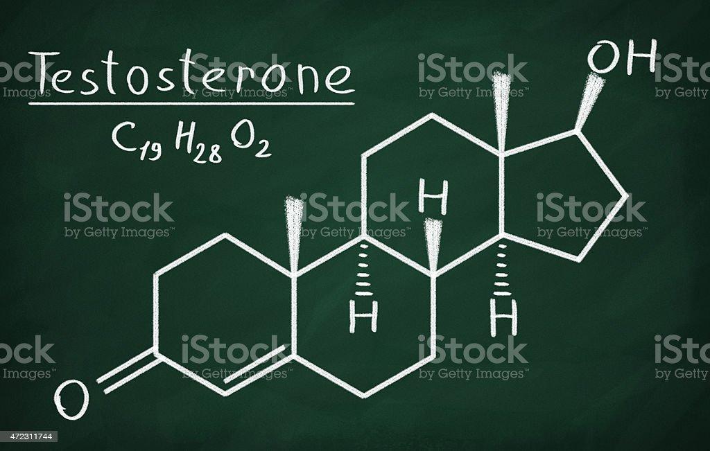 Testosterone vector art illustration