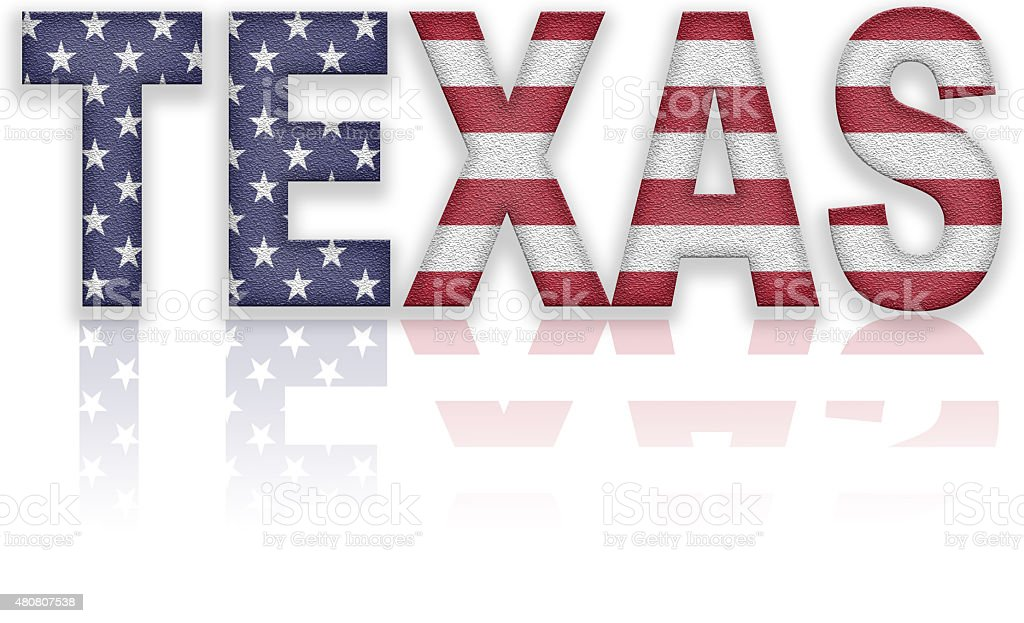 Texas Flag Text vector art illustration