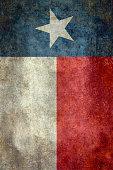 Texas state flag vintage retro style banner version