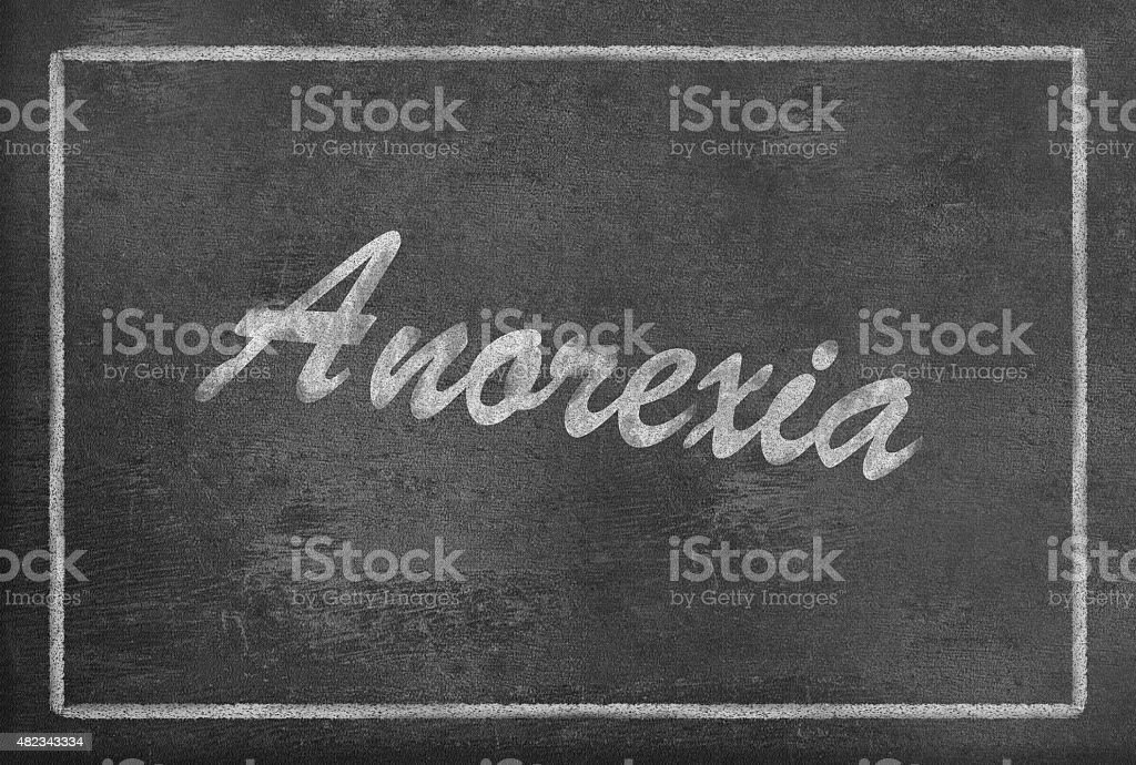 Text Anorexia on Blackboard vector art illustration