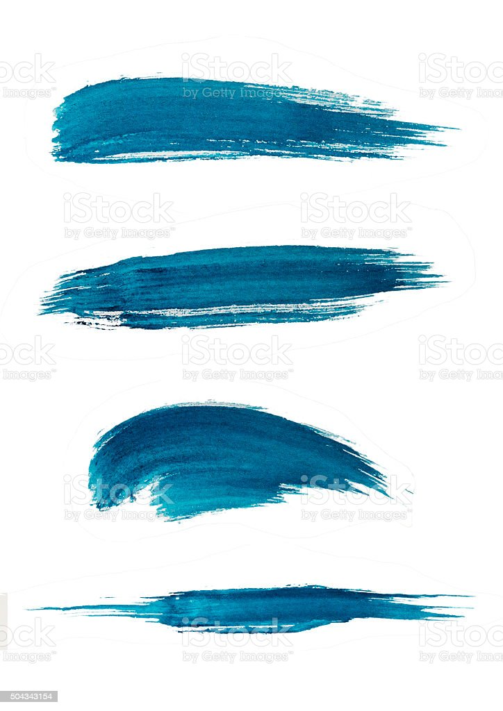 texture of the brush stroke vector art illustration
