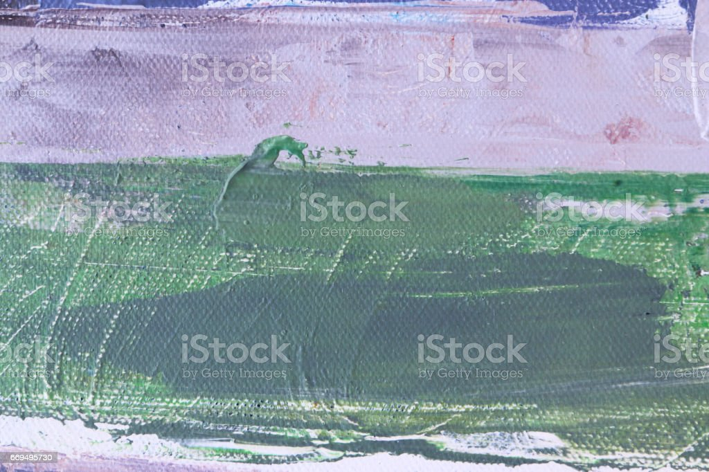 Texture painting. Abstract art background. Acrylic on canvas. Rough brushstrokes of paint. vector art illustration