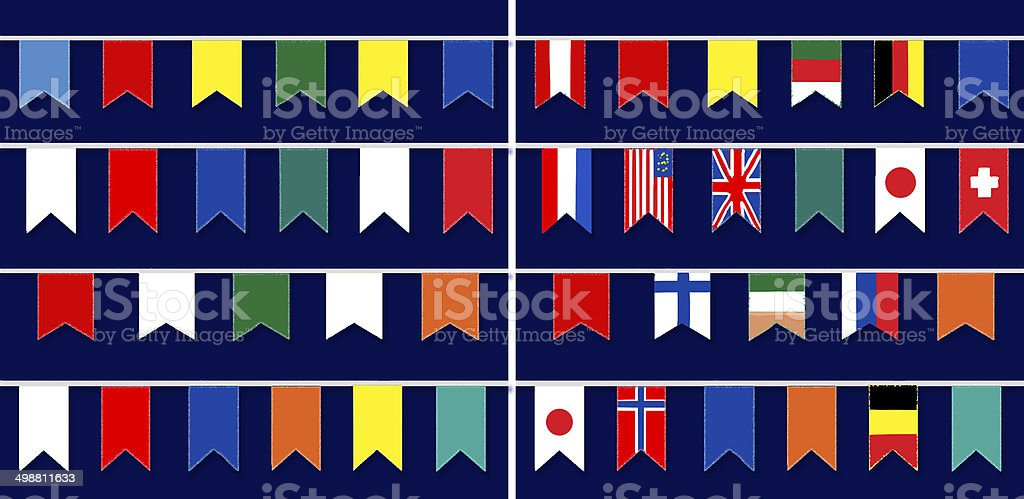 Texture with flags. Flags of countries. vector art illustration