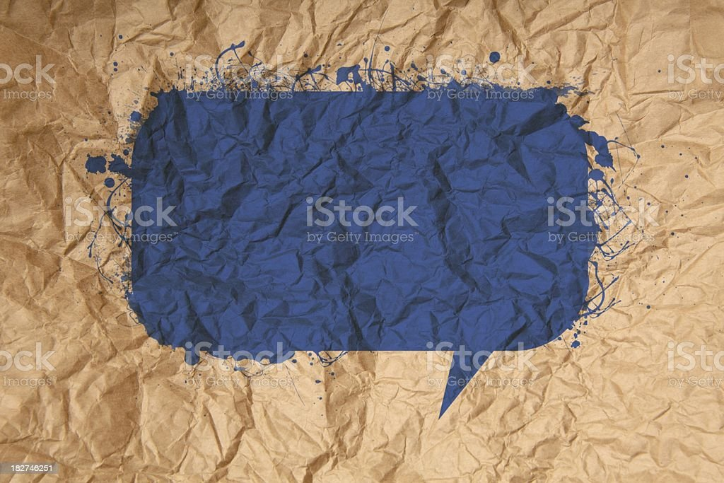 Textured paper speech bubble royalty-free stock vector art