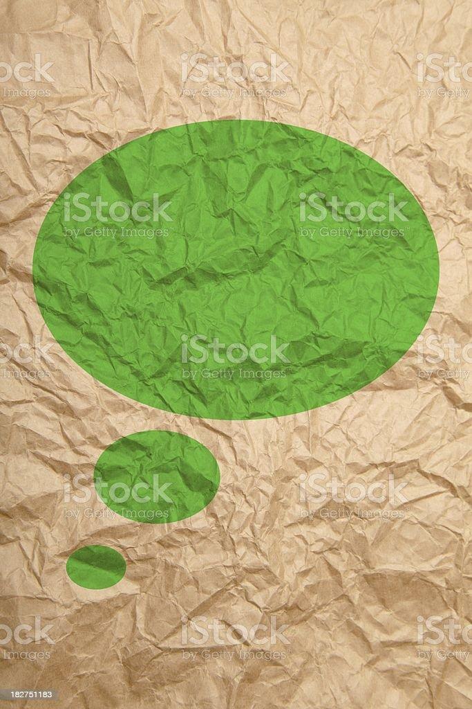 Textured paper speech bubble royalty-free stock vector art