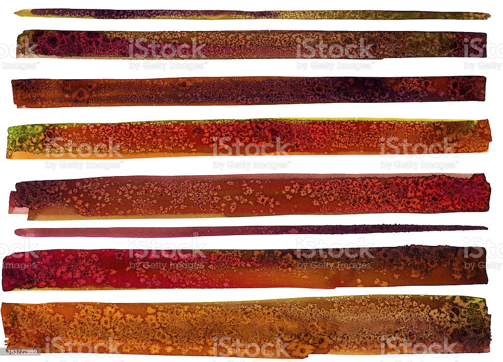 Textured watercolor strips royalty-free stock vector art