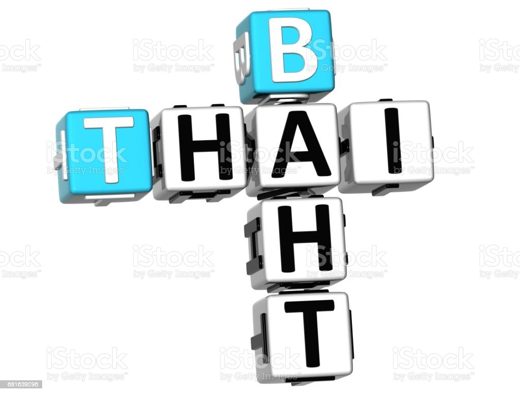 3D Thai Baht Crossword vector art illustration