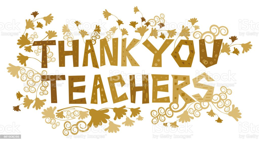 Thank You Teachers vector art illustration