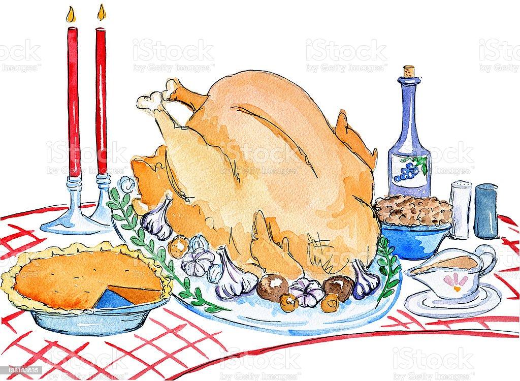 Thanksgiving Dinner royalty-free stock vector art