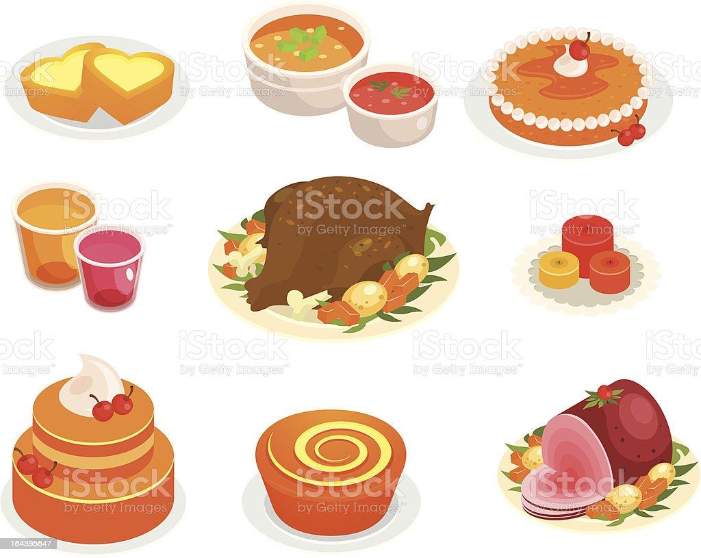 Thanksgiving feast royalty-free stock vector art