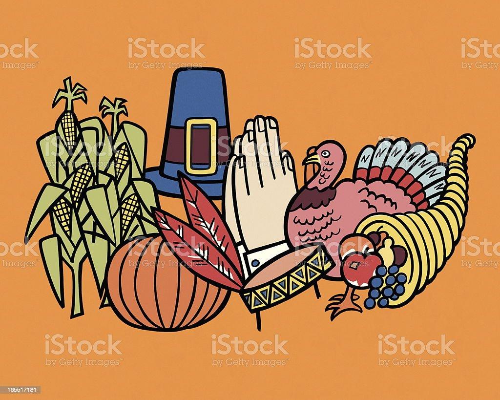 Thanksgiving Motif vector art illustration