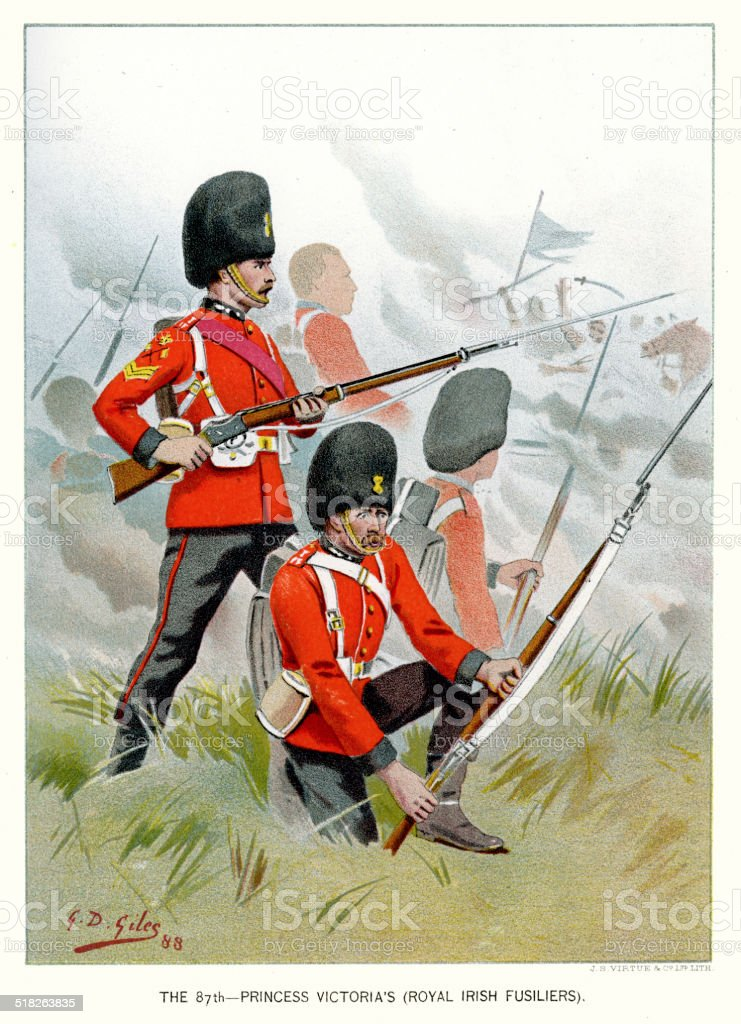 The 87th Royal Irish Fusiliers vector art illustration