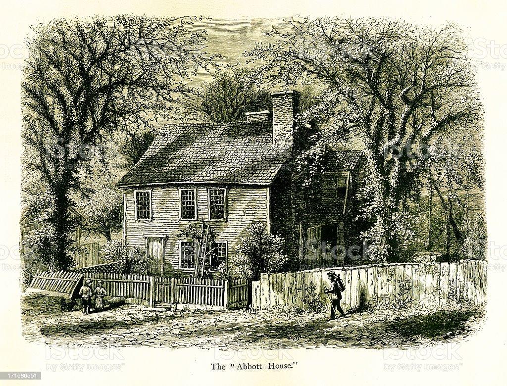 The Abbott House, Providence, Rhode Island vector art illustration