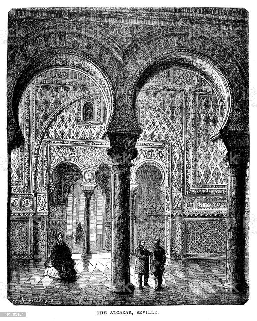 The Alcazar vector art illustration