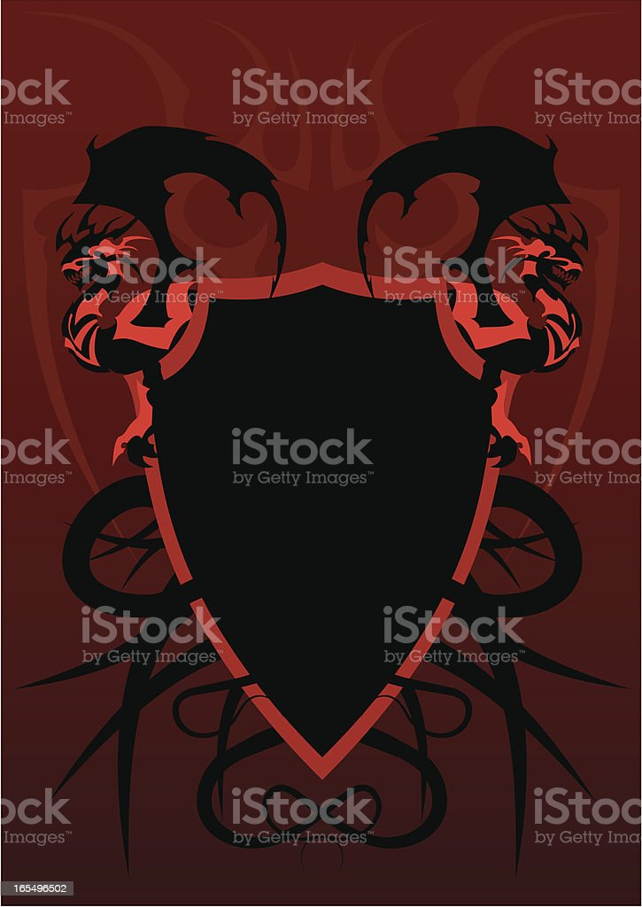 The armour of a dragon royalty-free stock vector art