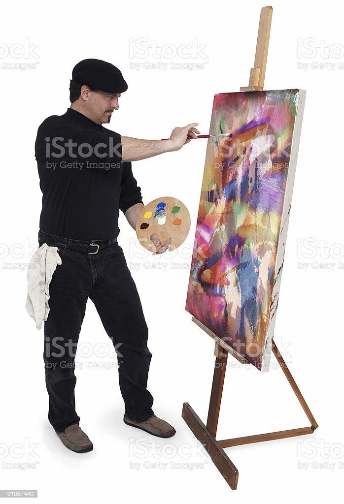 The Artist royalty-free stock vector art