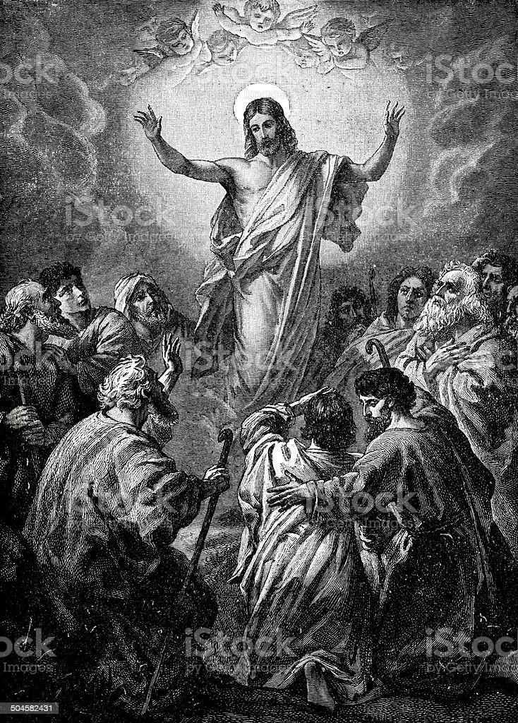 The Ascension Of Jesus vector art illustration