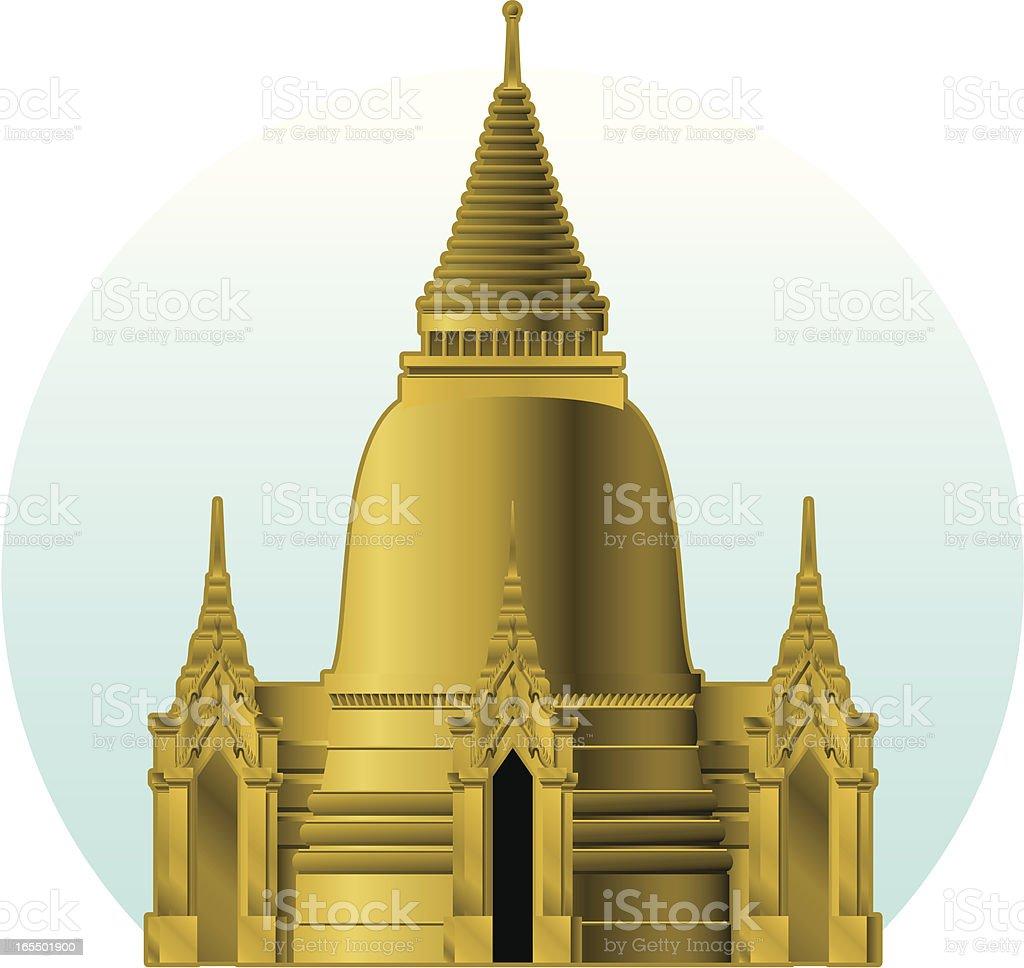 The Bangkok golden stupa royalty-free stock vector art