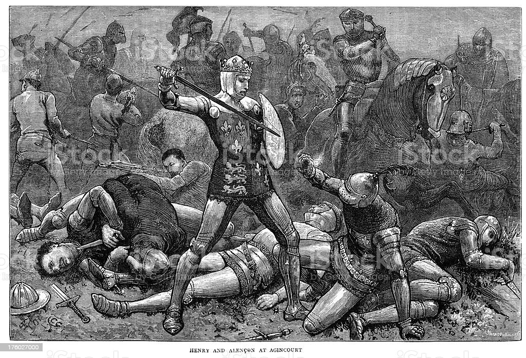 The Battle of Agincourt royalty-free stock vector art
