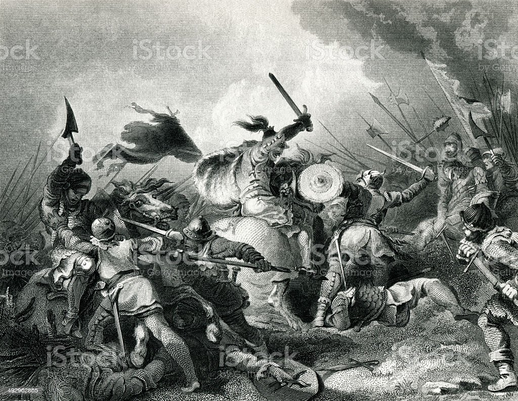 The Battle Of Hastings vector art illustration