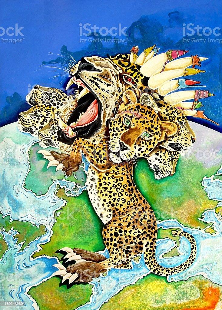 The Beast vector art illustration