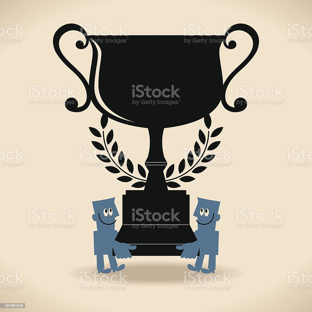 The Best Trophy royalty-free stock vector art
