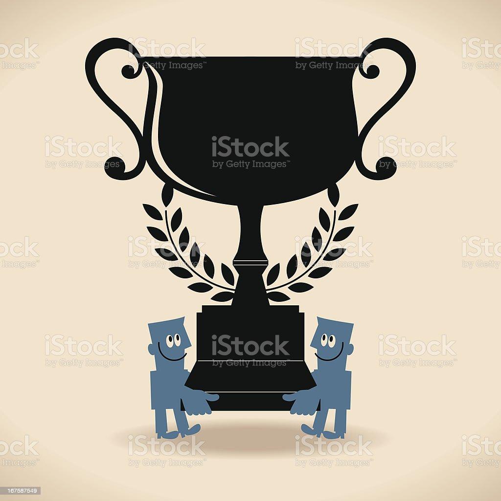 The Best Trophy vector art illustration