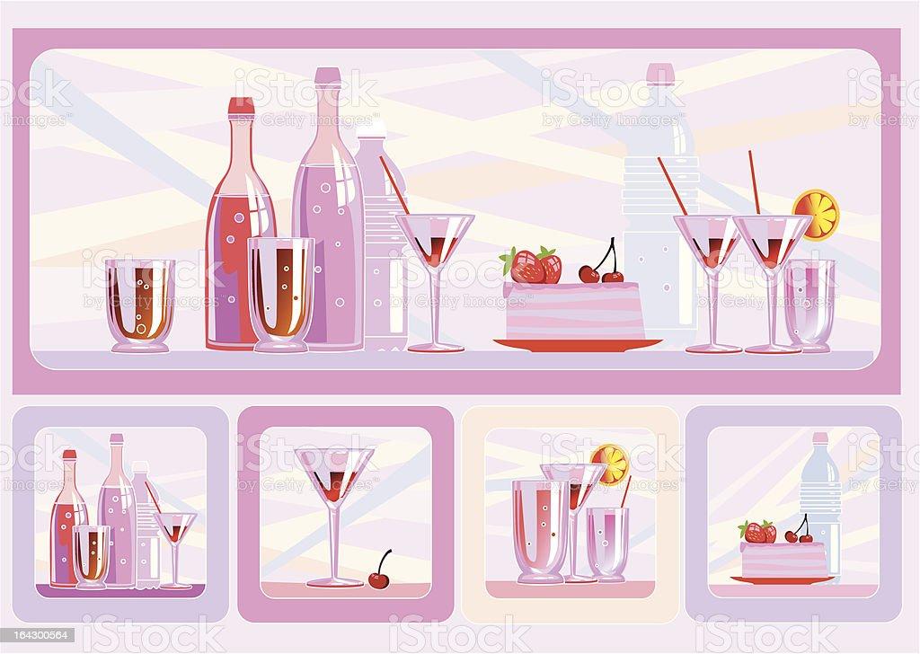 The birthday food vector art illustration