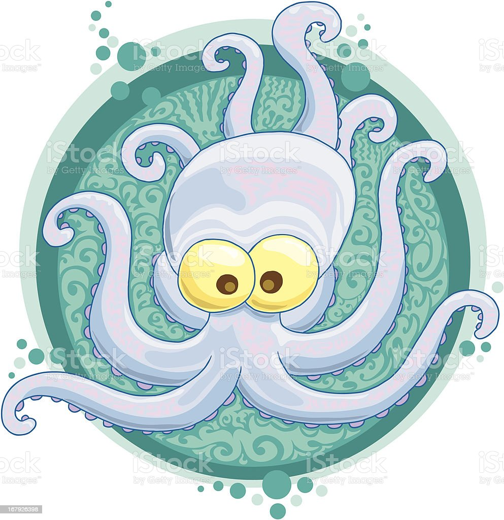 The blue octopus royalty-free stock vector art