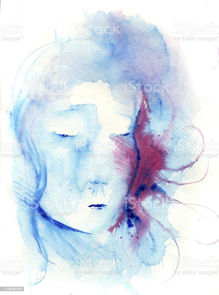 the blue series vector art illustration