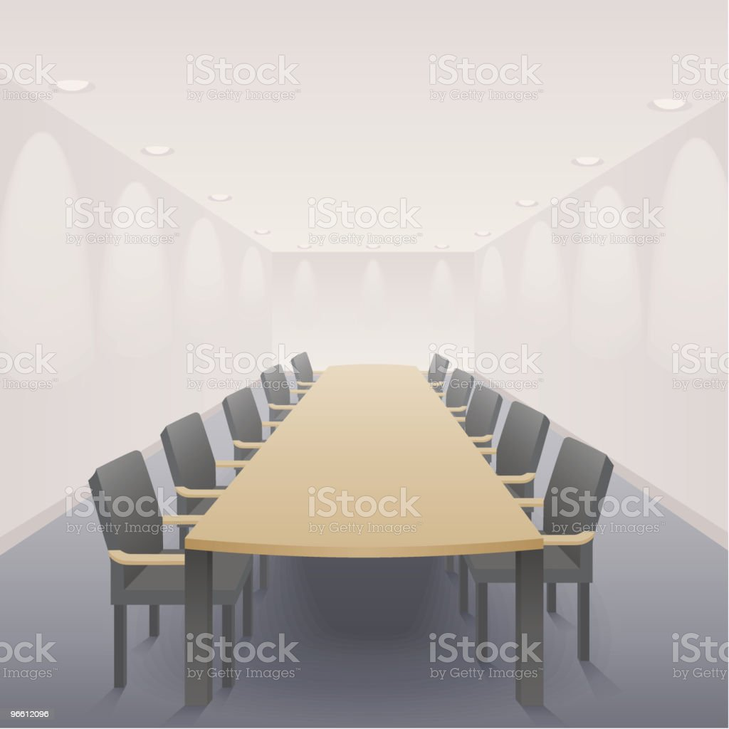 The Boardroom royalty-free stock vector art