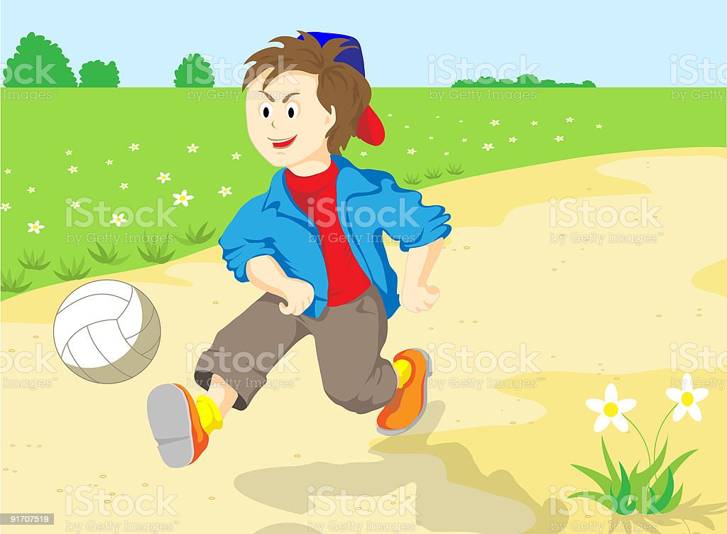 The boy with ball. royalty-free stock vector art