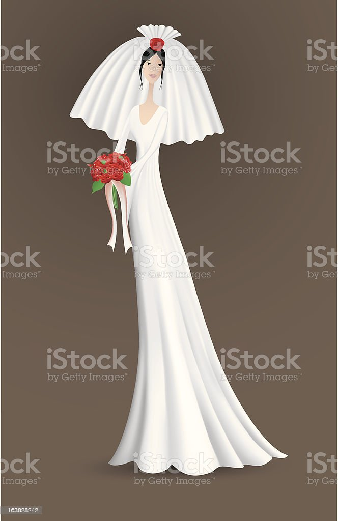 The Bride vector art illustration