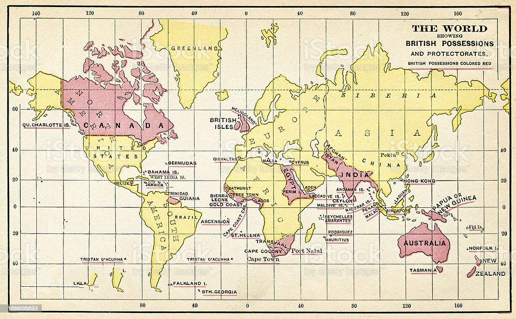 The British Empire From 1883 vector art illustration