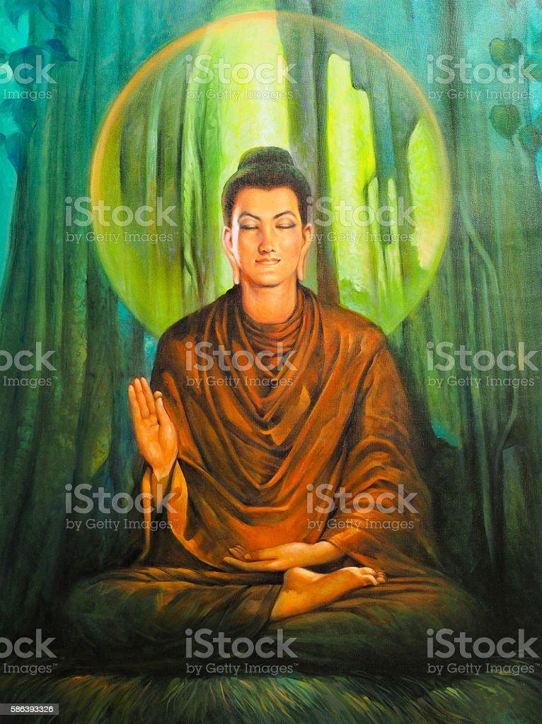 The Buddha. vector art illustration