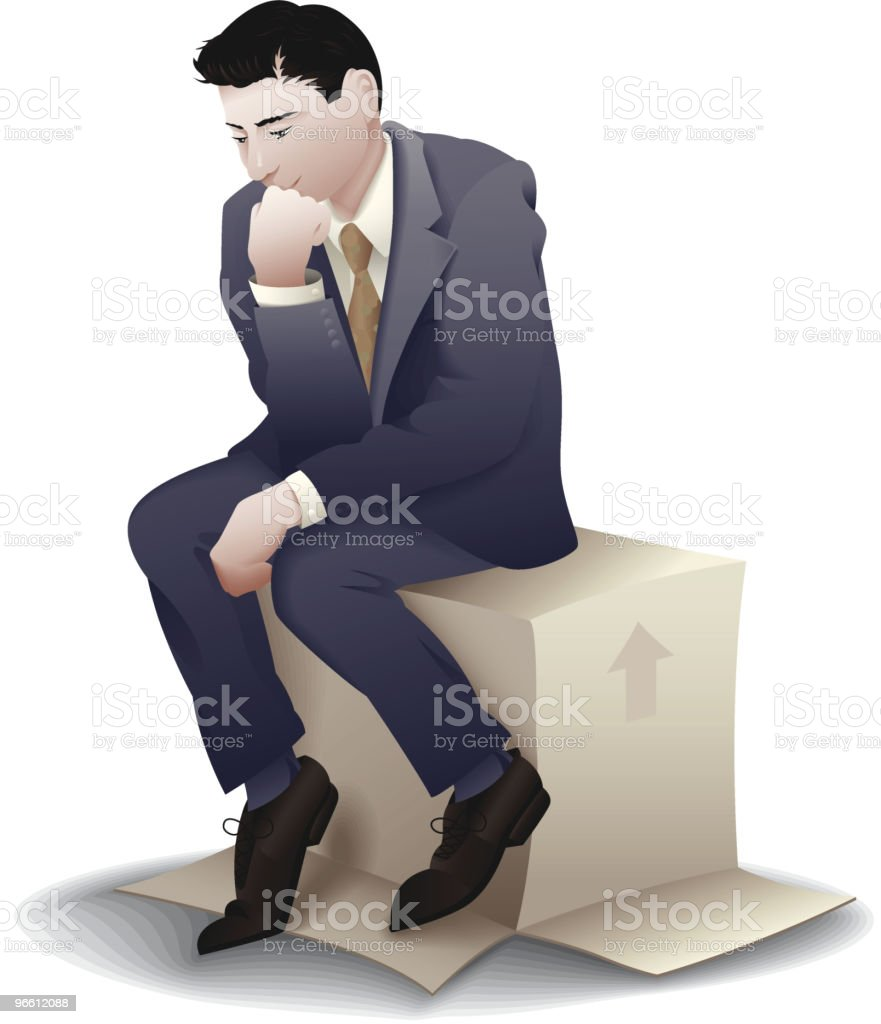 The Business Thinker vector art illustration