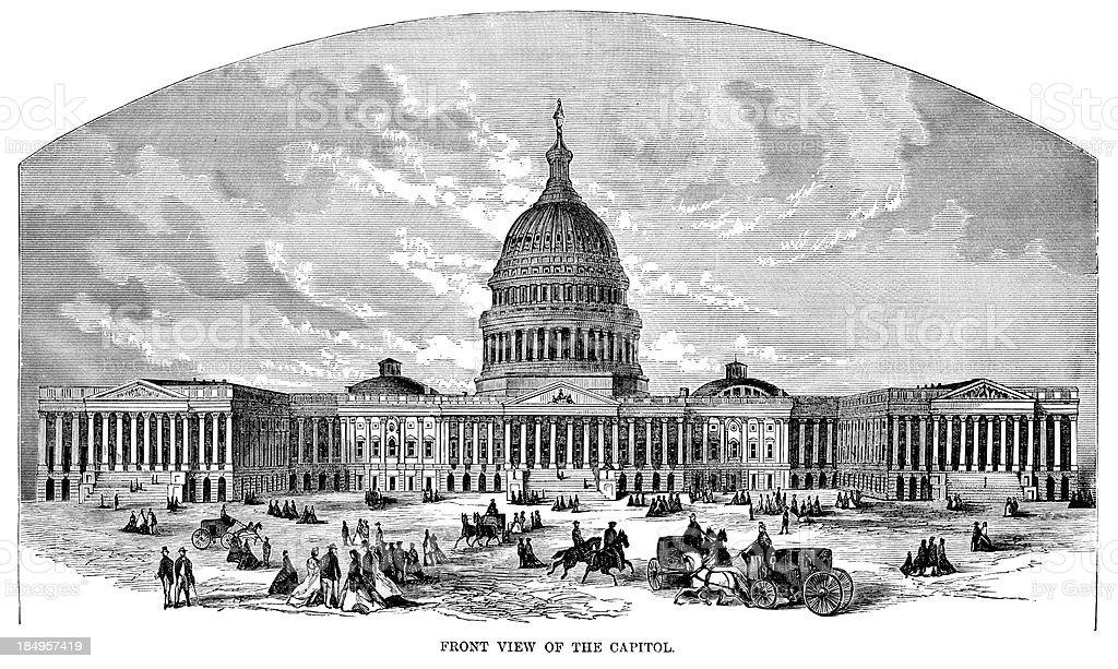 The Capitol Building vector art illustration