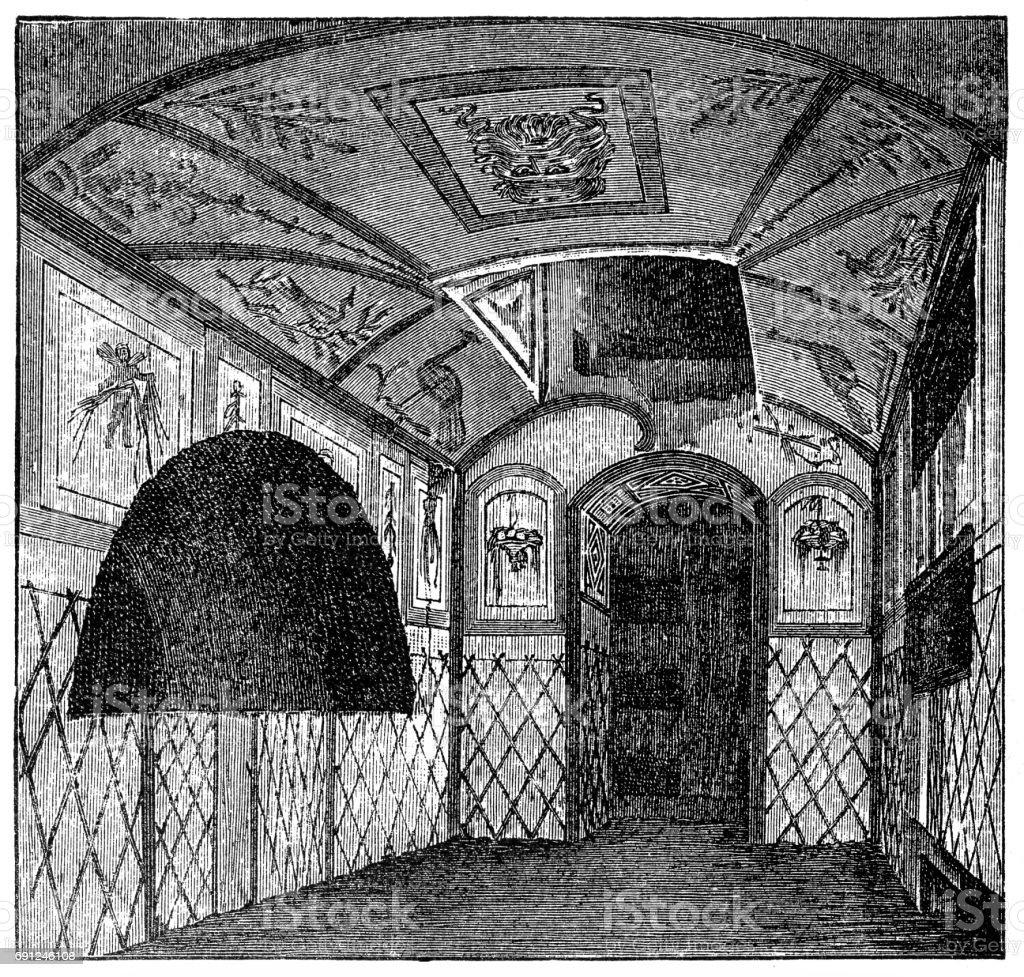 The catacombs of St. Callixtus vector art illustration