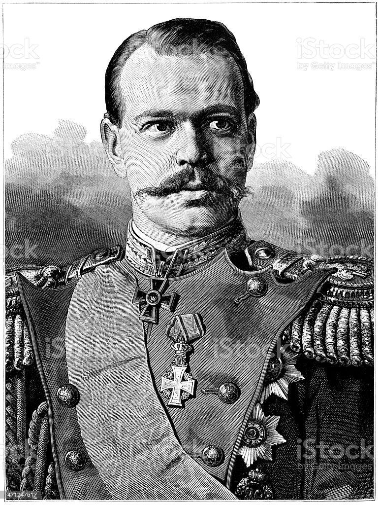 The Cesarevitch - son of Russian Emperor royalty-free stock vector art