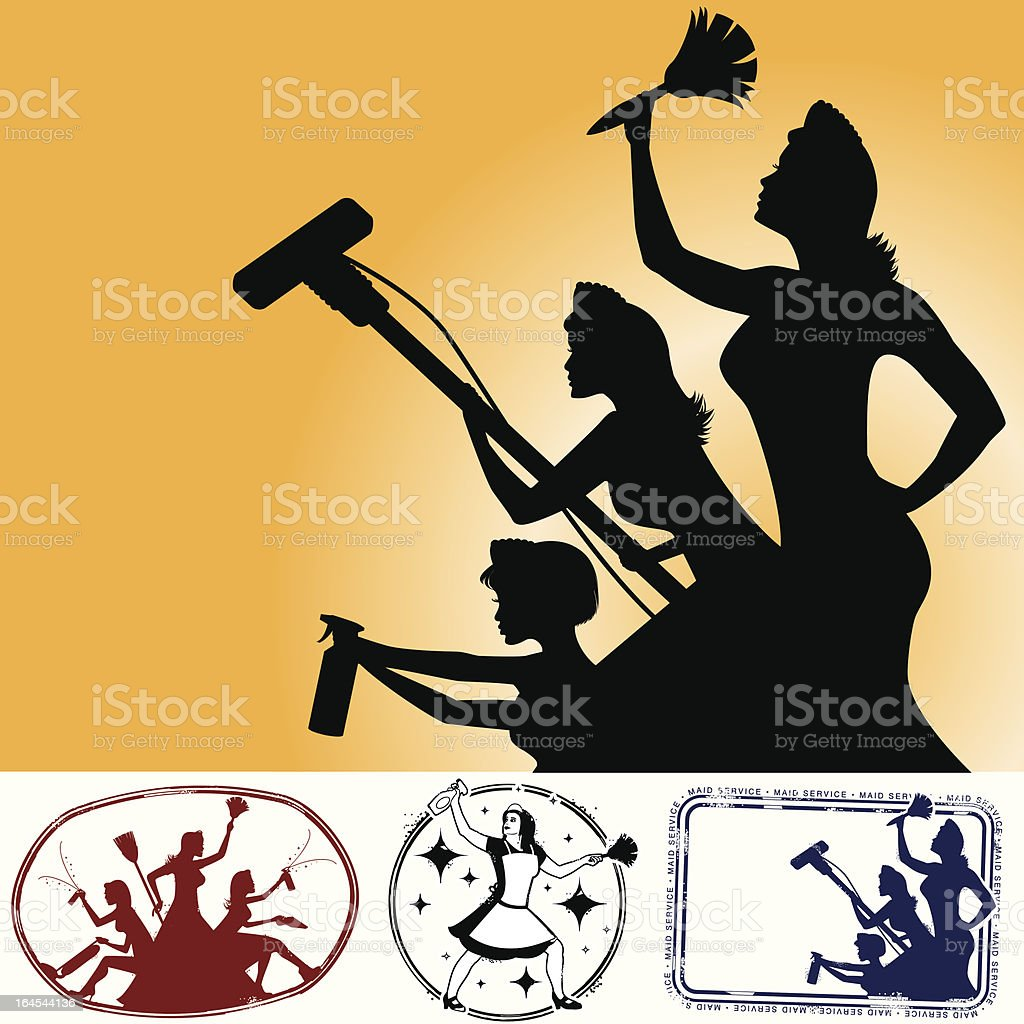 The cleaning assasins are here! royalty-free stock vector art
