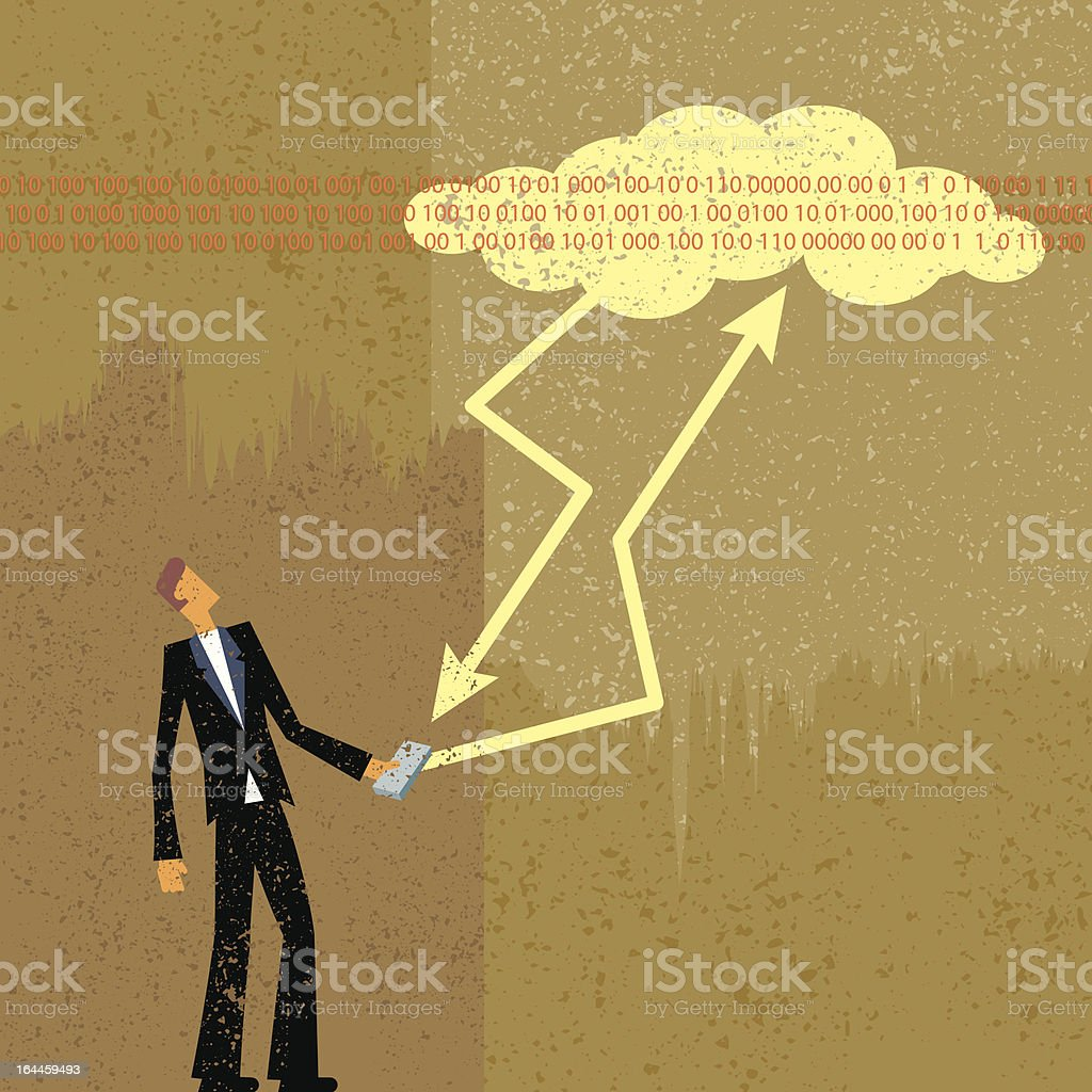The Cloud and me royalty-free stock vector art