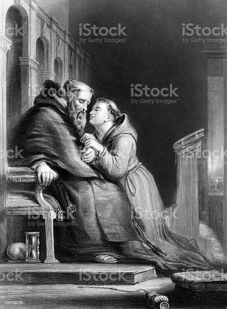 The confession vector art illustration