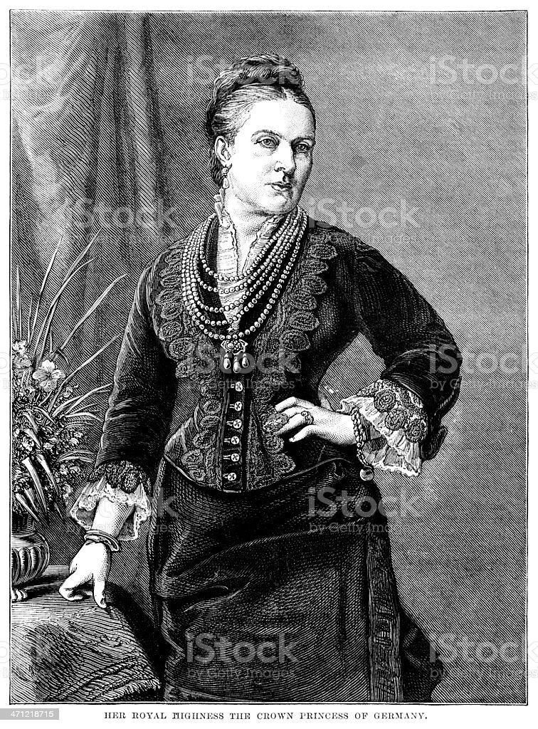 The Crown Princess of Germany - Victorian illustration royalty-free stock vector art