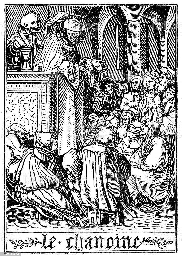 The Dance of Death - Preacher royalty-free stock vector art