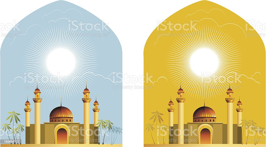 The east. royalty-free stock vector art