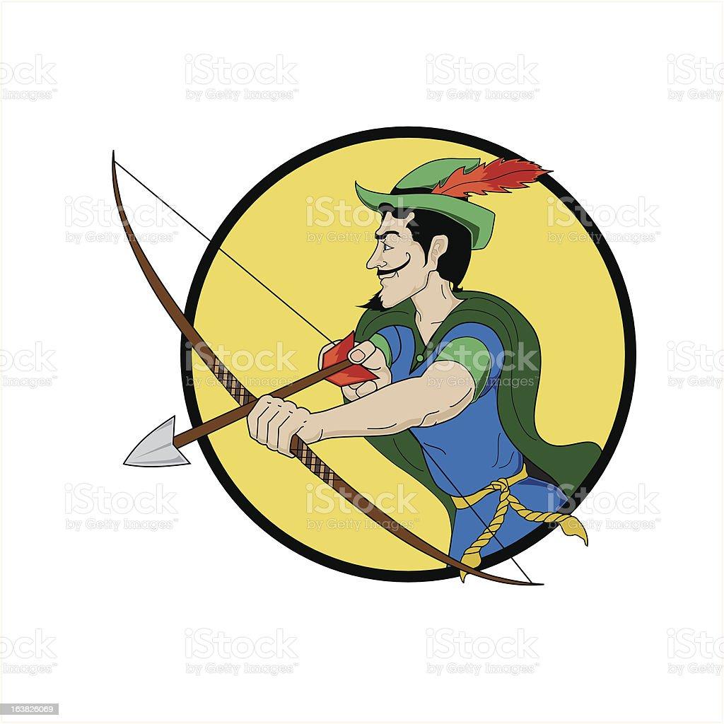 The Emerald Archer vector art illustration